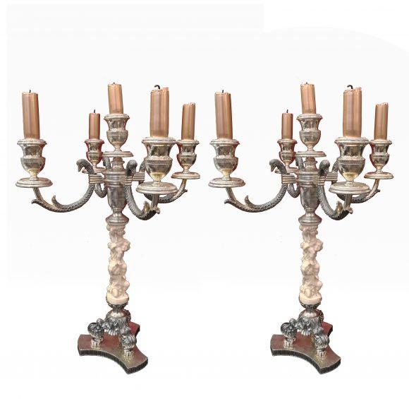 Paire de chandeliers – Italie