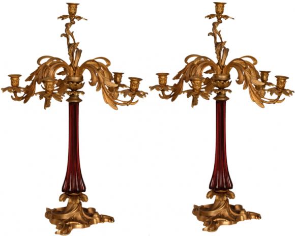 Paire Chandeliers – Napoléon III