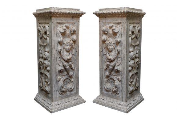 Paire de Colonnes Baroques