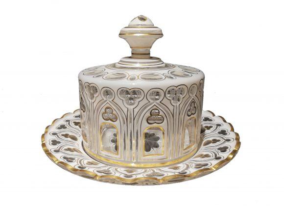 Confiturier et son présentoir – Cristal de Bohême