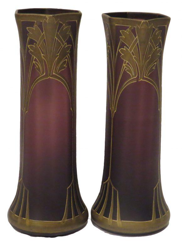 Vases de style Art Nouveau – Verre cristallin