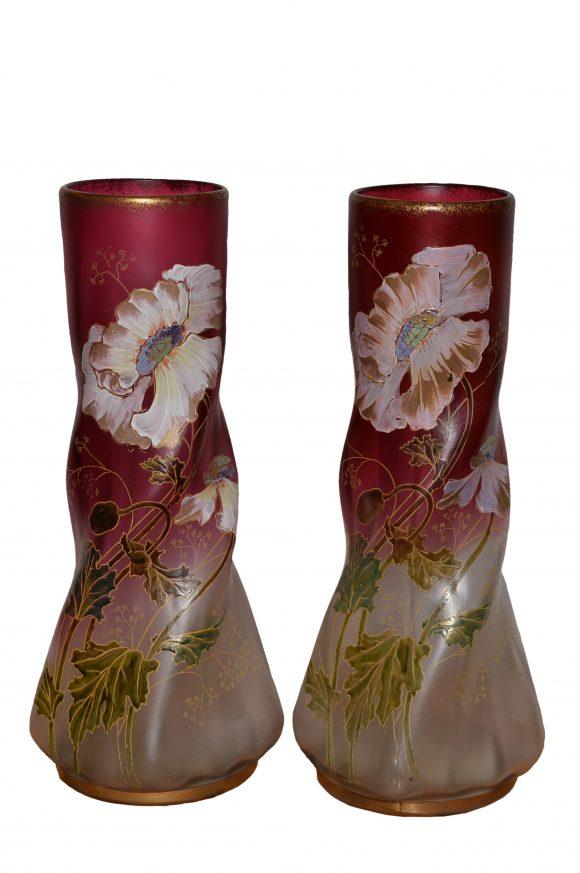 Grands vases Art Nouveau – Verre Cristallin