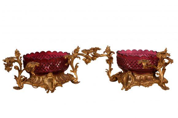 Paire de Centres de table – Cristal de Saint-Louis