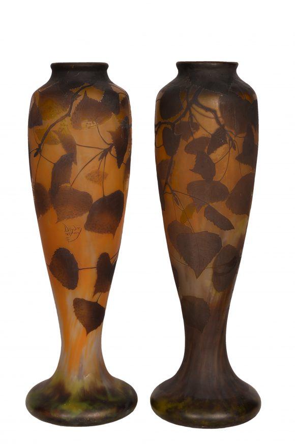 Grande Paire de Vases – Signé Daum
