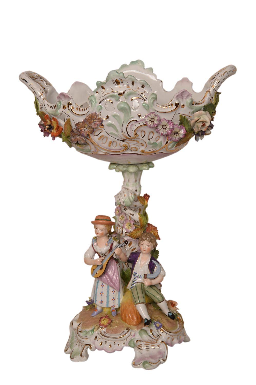 Centre de table – porcelaine de Dresden