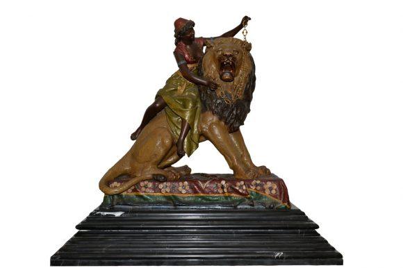 Jeune maure au lion – Louis Hottot