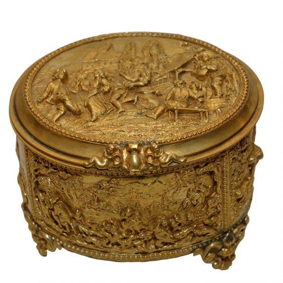 Coffret en bronzes dorés
