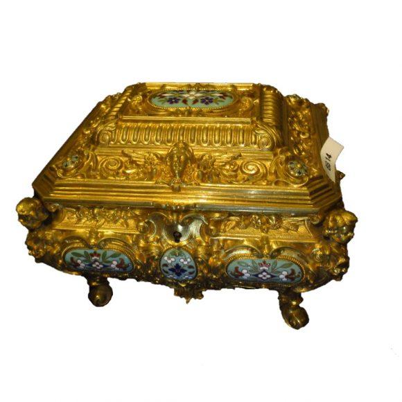 Coffret de style Rocaille en bronzes dorés