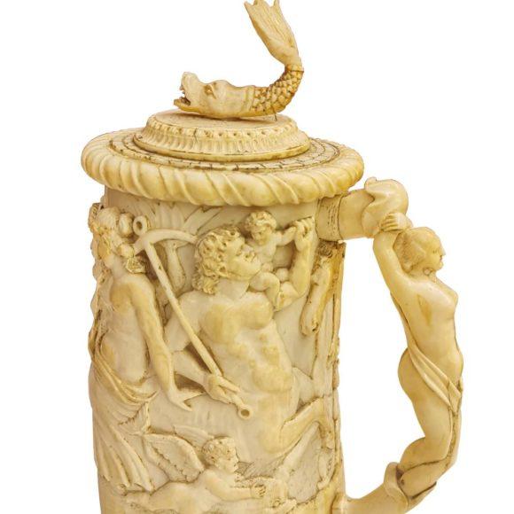Corps de chope et de poignée en ivoire