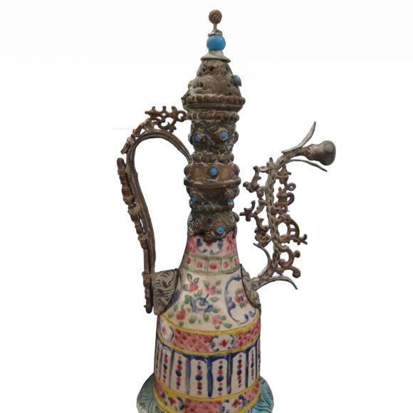 Narguilé d'Epoque Kadjar en céramique