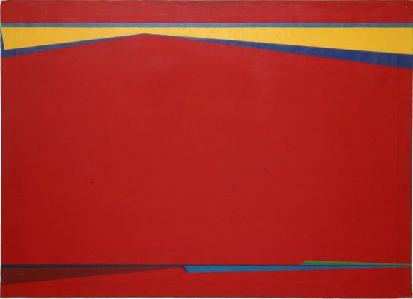 Abstraction en rouge – Saliba Douaihy