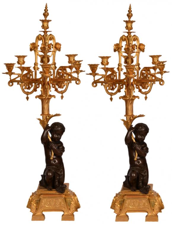 Paire de chandeliers – Empire