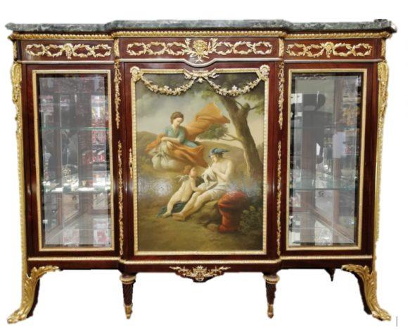 Belle Vitrine Louis XVI – Signée Linke