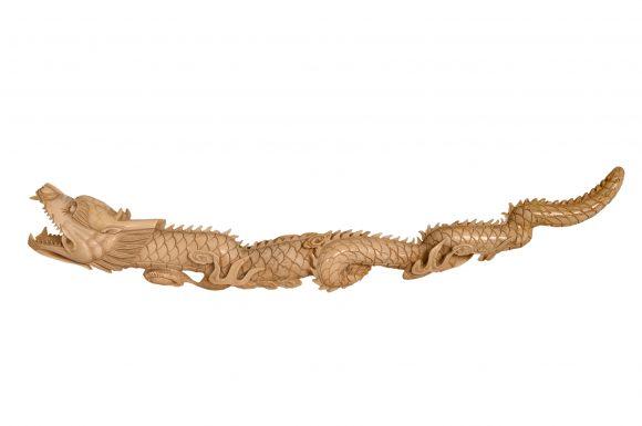 Importante figurine animalière chinoise en ivoire