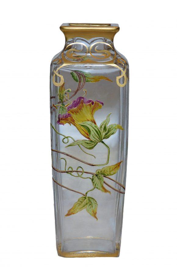 Vase – Cristal européen de style Art nouveau