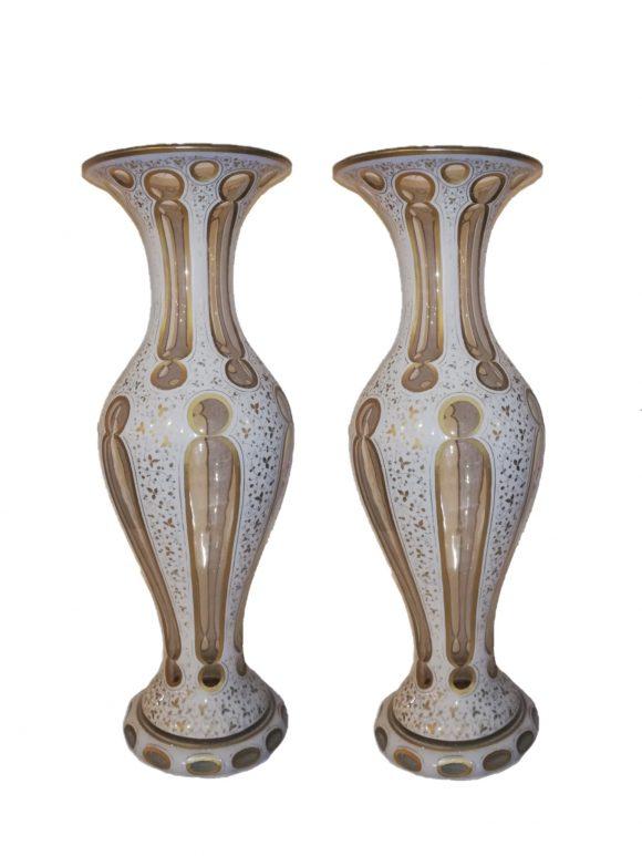 Paire de Vases – Cristal de Bohême