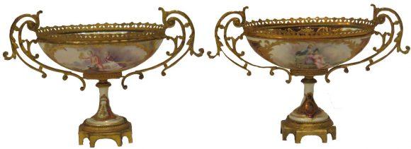 Paire de Coupes – Porcelaine de Sèvres