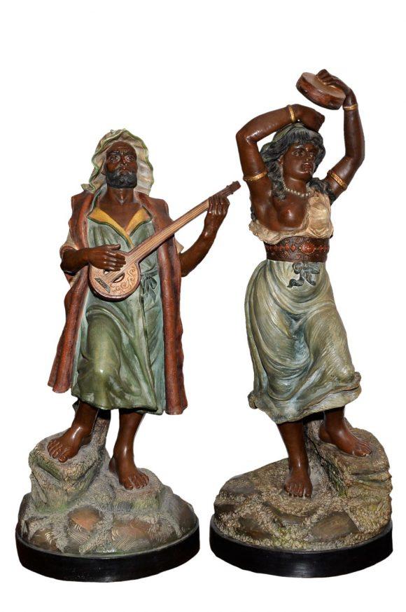 Paire de sculpture orientaliste