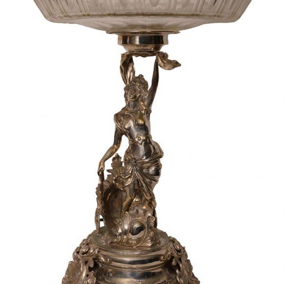 Centre de table en bronze argenté