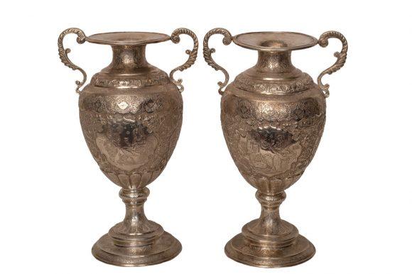 Paire de vases persan – Argent massif