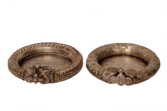 Paire de bracelet cendrier en argent massif