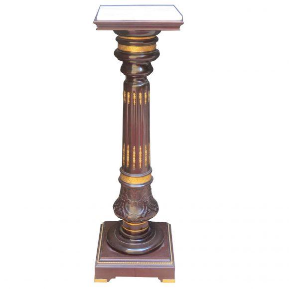 Colonne Napoléon III en bois sculpté